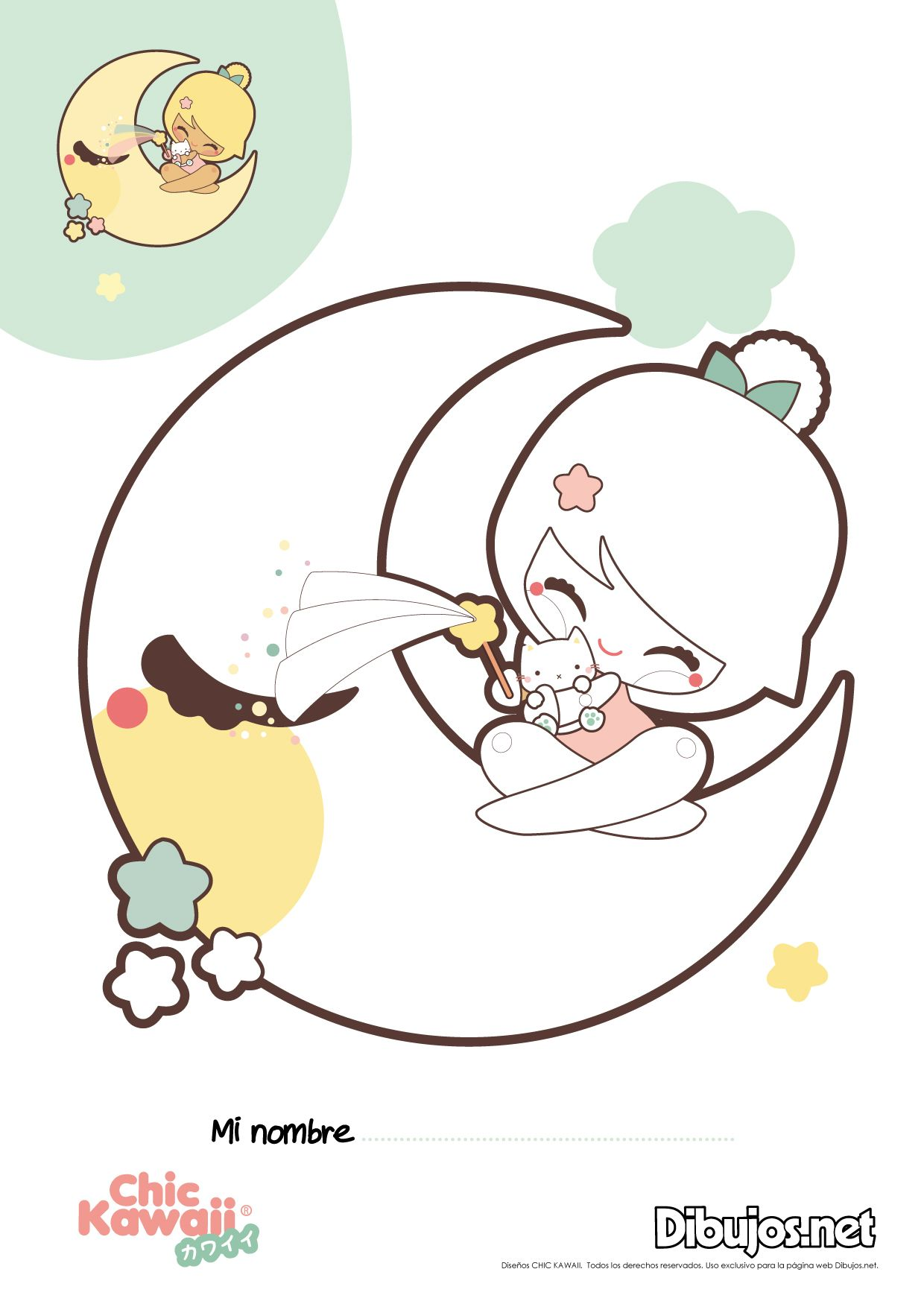 Chic Kawaii Coloring Sheets | kawaii | Pinterest | Kawaii