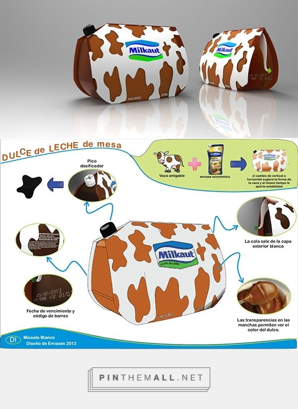 Dulce de Leche economic packaging on Behance curated by Packaging Diva PD.  Interesting sustainable packaging concept.