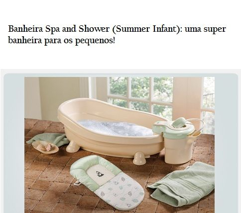 alguem ja tinha visto essa super  banheira para os nossos pequenos