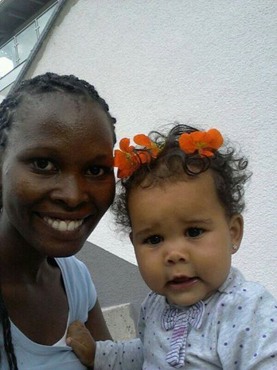 Kenyan Austrian princess with mama, how cute are those cheeks!!!??? ][ LoveCrossesBorders