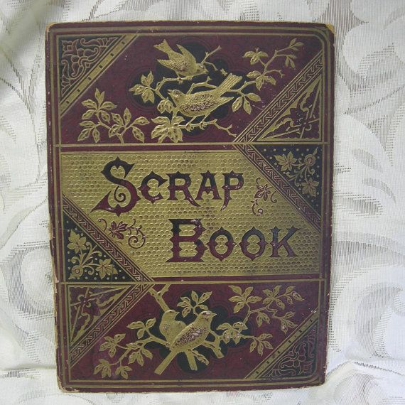 Antique Victorian Scrapbook Cover With Arts By Vintageartssupplies