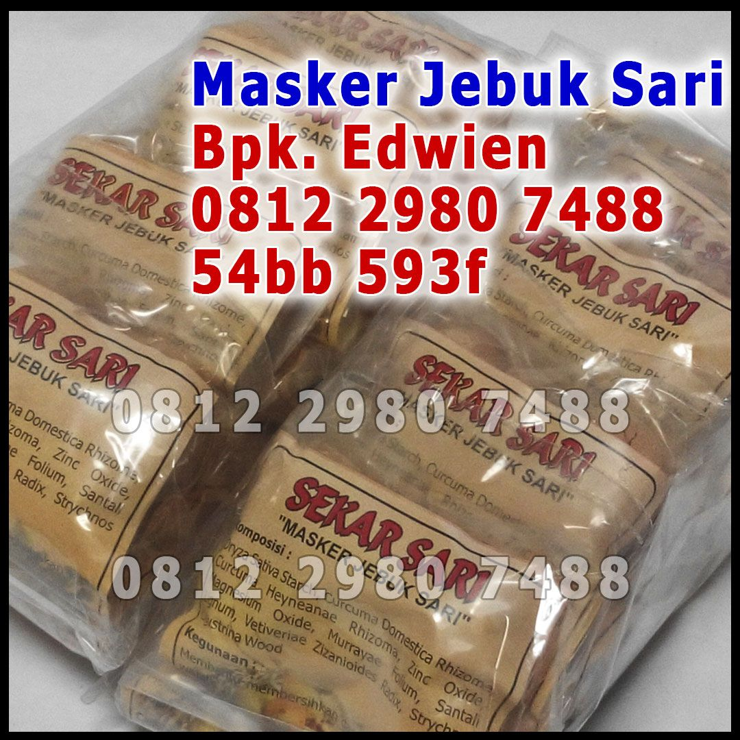Manfaat Masker Jebuk Sari, Fungsi Bedak Jebuk Sari, Jebuk