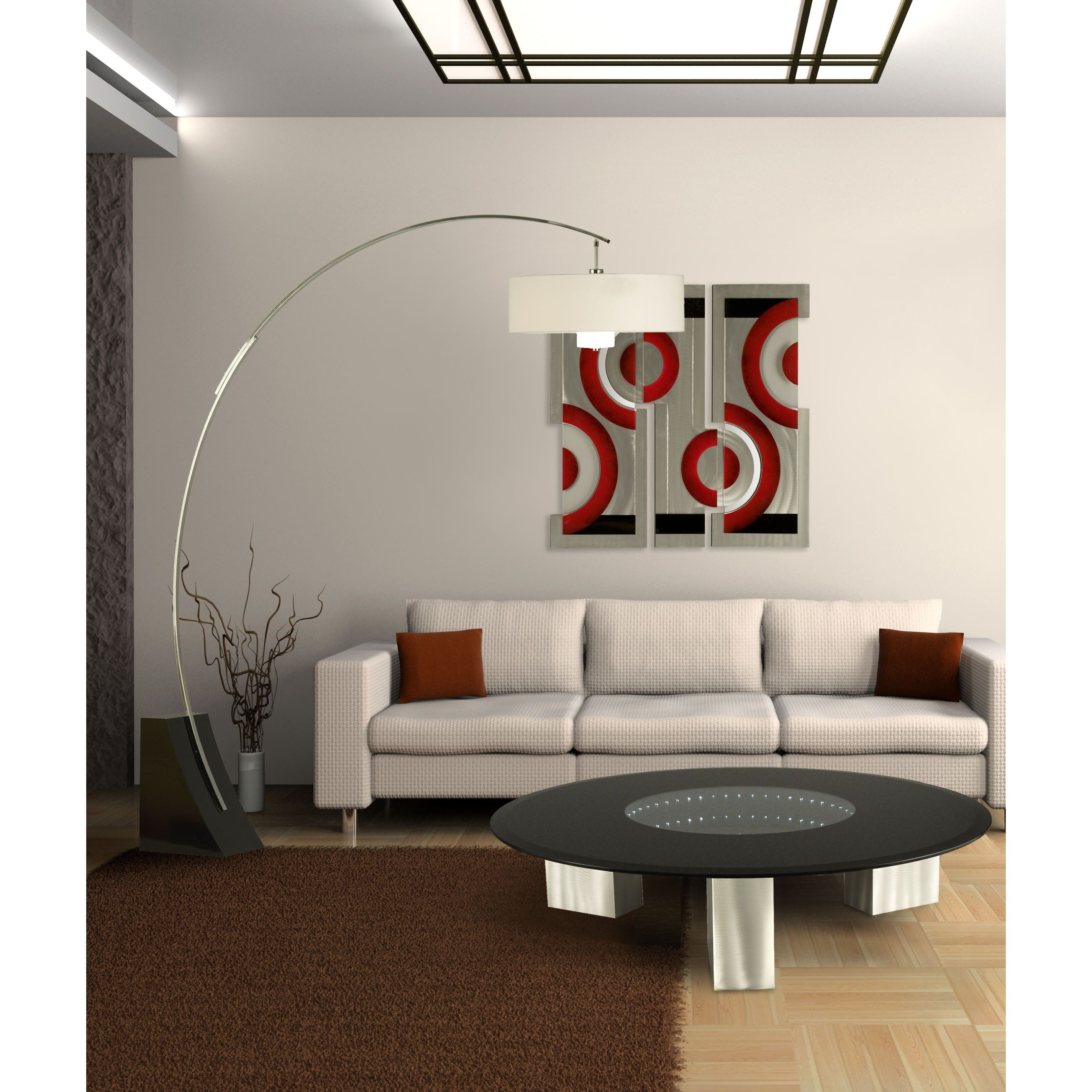 Arc floor lamp in living room - Wall Sculptures Studiolx Jasper Wall Graphic By Nova Lighting Living Room Floor Lampsarc