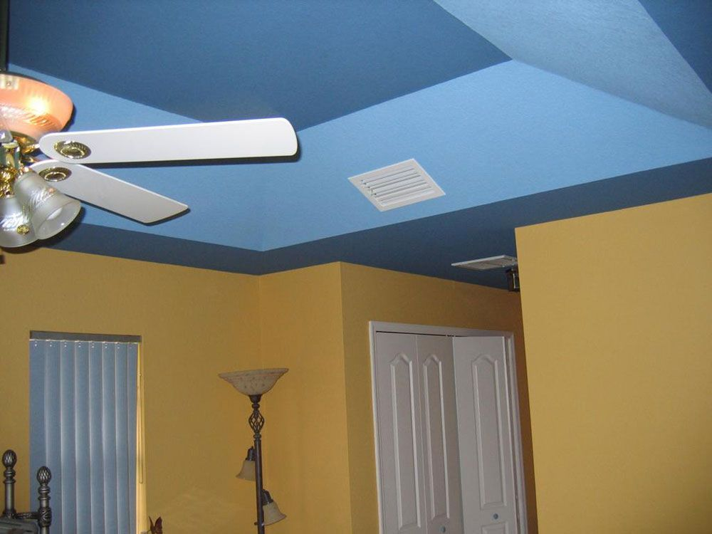 Blue Ceiling With Yellow Walls Blue Ceiling Paint Best Ceiling Paint Painted Ceiling