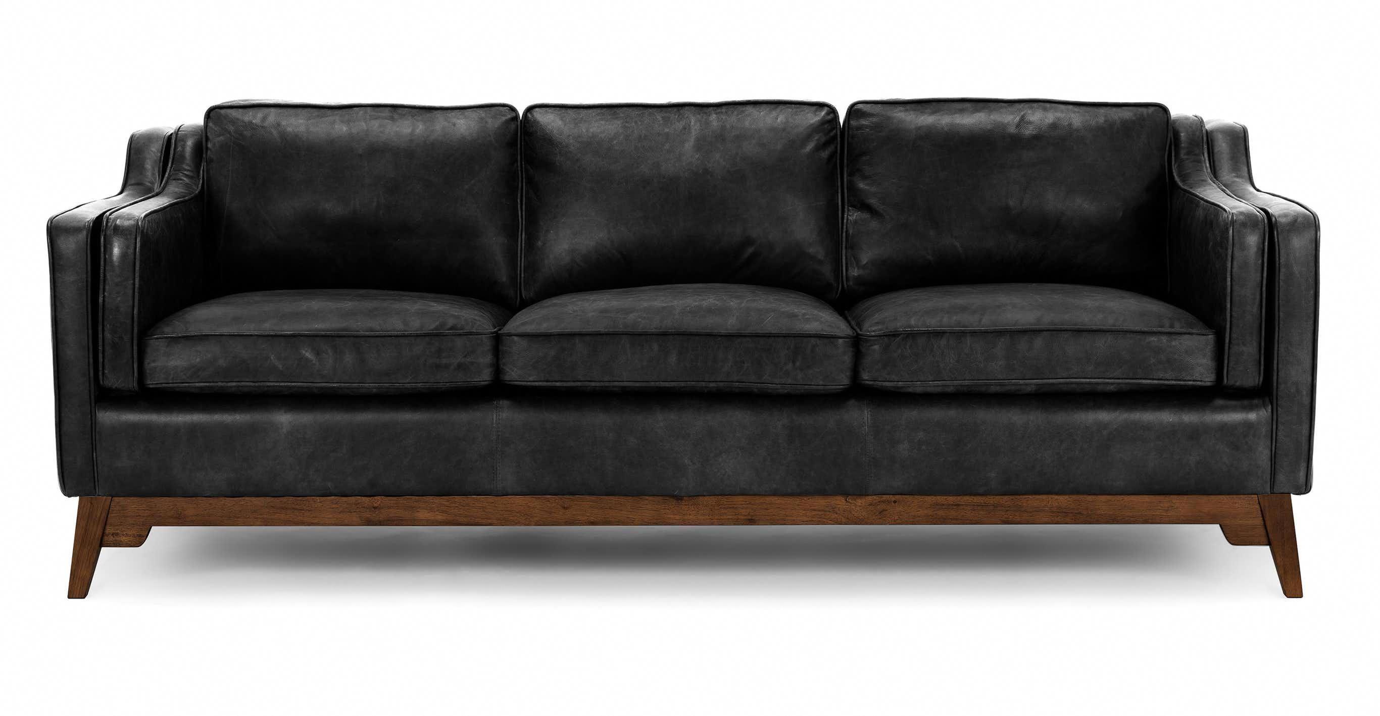 Worthington Oxford Black Sofa Black Leather Sofas Black Sofa Brown Living Room Decor