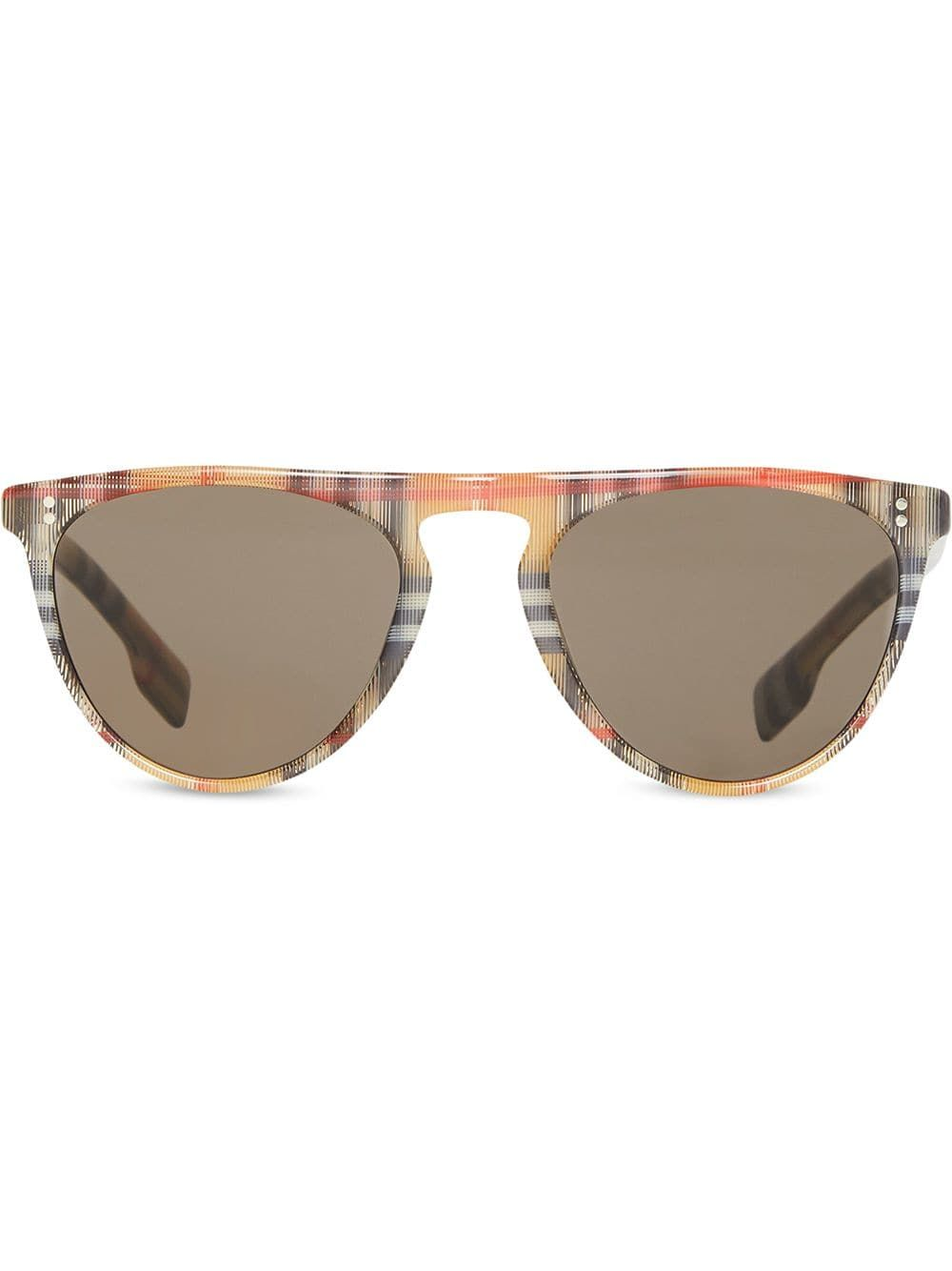 foto de Vintage Check Keyhole D-shaped Sunglasses In Brown (With images ...
