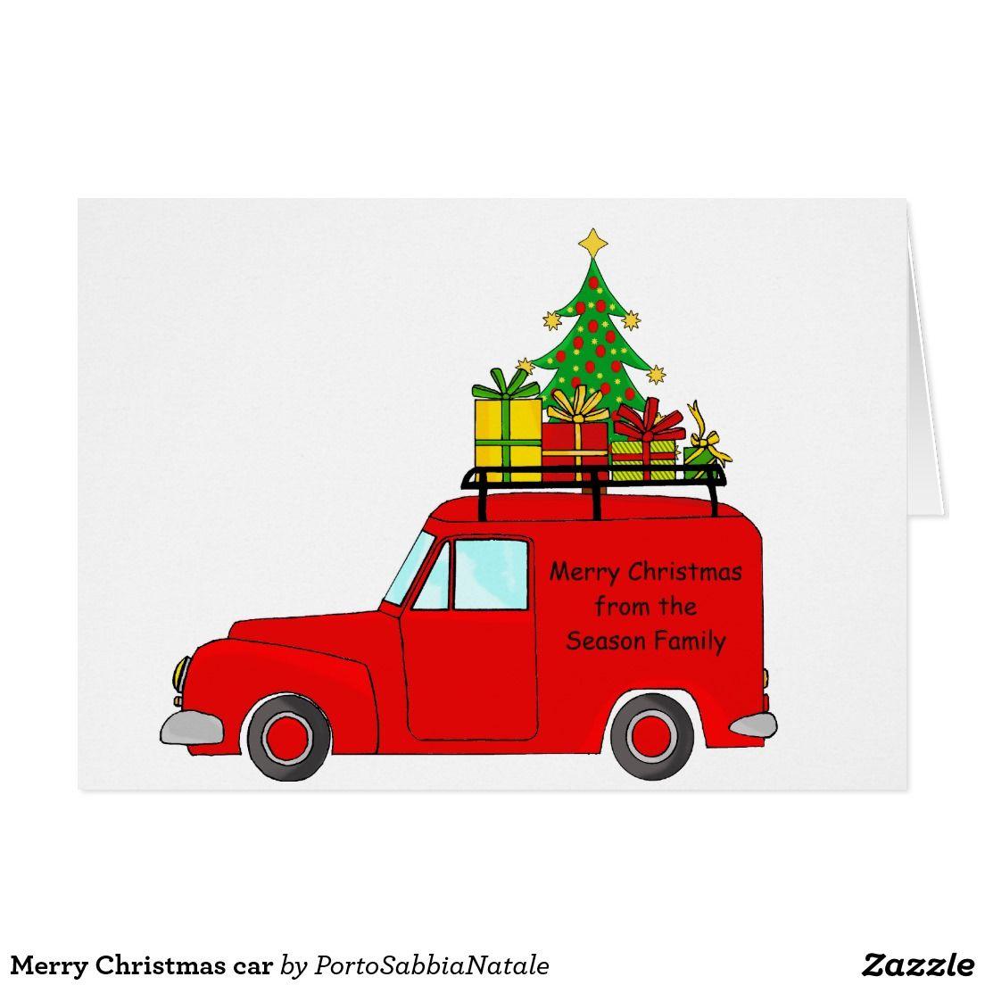 Merry Christmas car Card