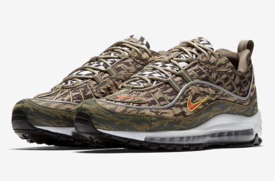 pretty nice ee5a5 24ff6 Release Date Nike Air Max 98 All Over Print Camo Graphic colorways of the  Nike