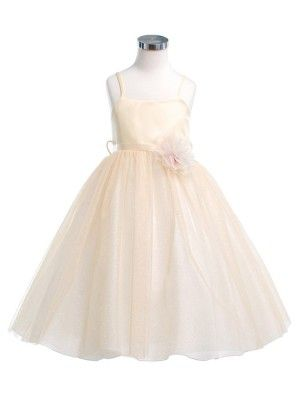 f86102e7129 Pastel Yellow Gold Glittering Ballerina Flower Girl Dress (Have my doubts  about its top)