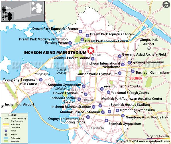 Incheon Asiad Main Stadium Incheon Location map and Travel info