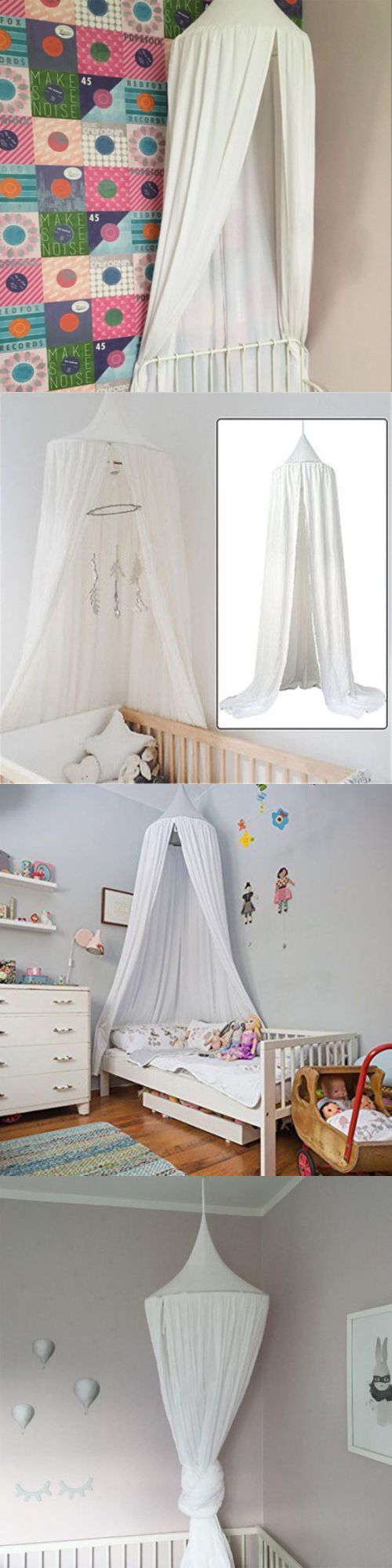 Canopies And Netting 176986 Summer Kid S Bed Canopy Mosquito Net Cotton Curtain Tent Bedding Dome It