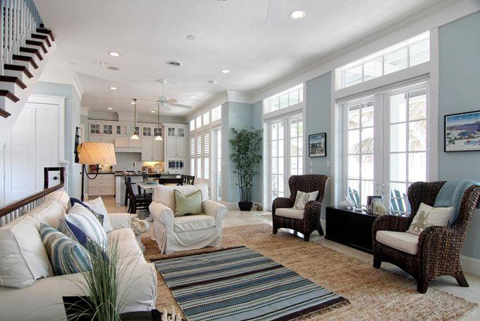 Galveston, Texas beautiful beach house - living