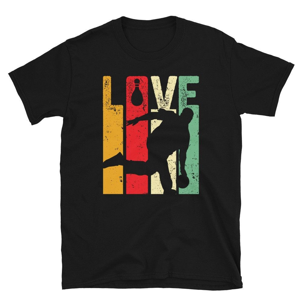 cool drawing vintage art mixed with bowling graphic style. perfect tee to express your passion.