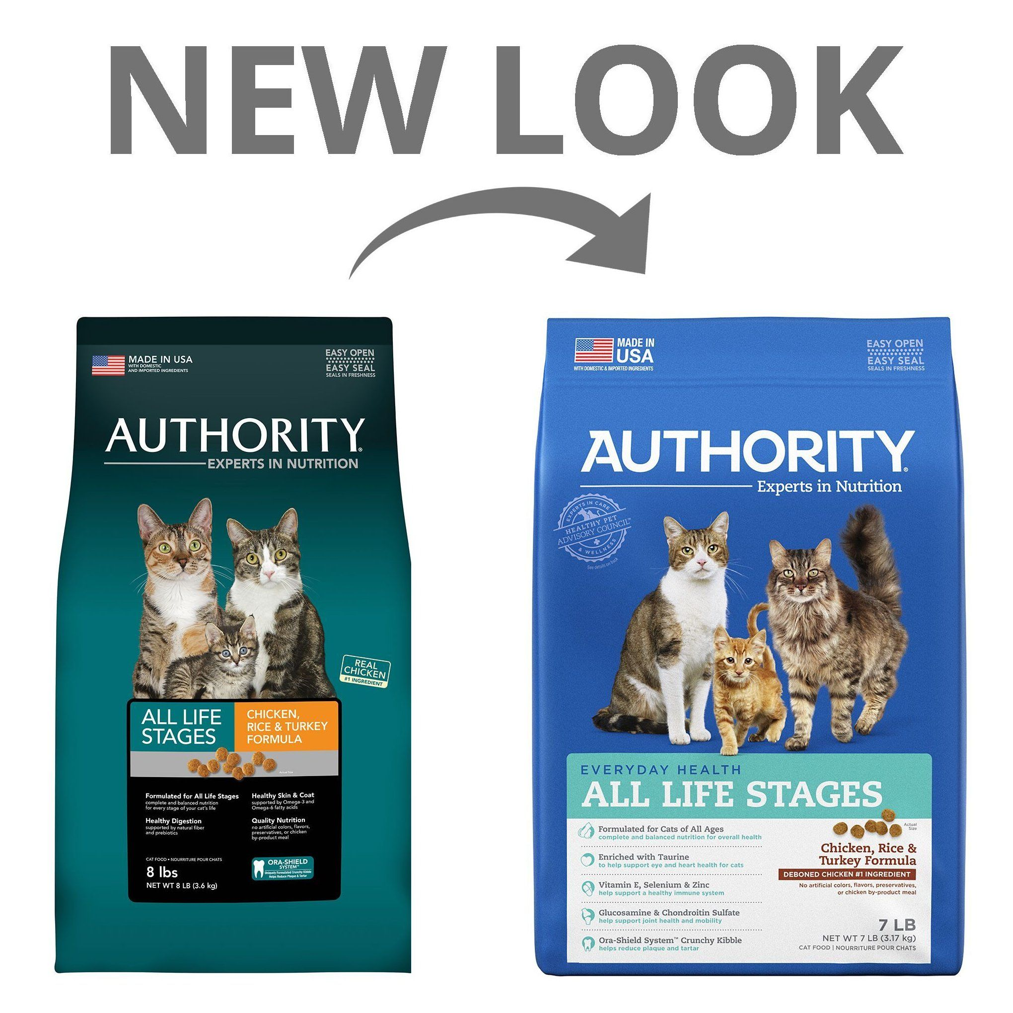 Authority all life stages cat food chicken rice and
