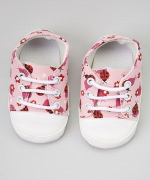 Love this Pink Ladybug Sneaker Booties by Squirrel Cheeks Boutique on #zulily! #zulilyfinds