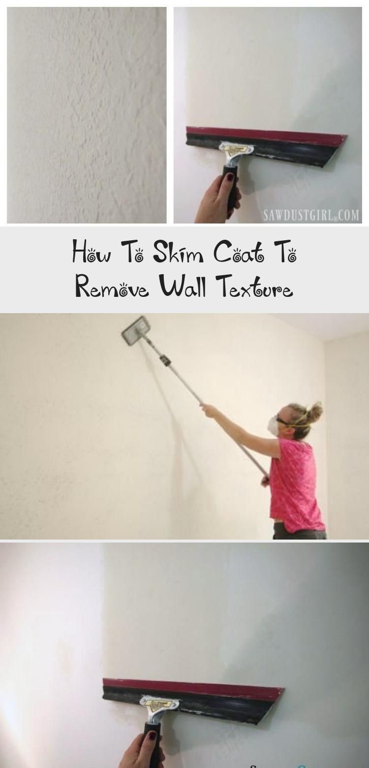 How To Skim Coat To Remove Wall Texture Sawdust Girl Good Technique For Smoothing Textured Paint Walls Diyho In 2020 Diy Home Improvement Textured Walls Home Diy