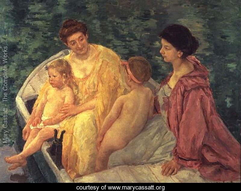 The Swim, or Two Mothers and Their Children on a Boat, 1910 - Mary Cassatt