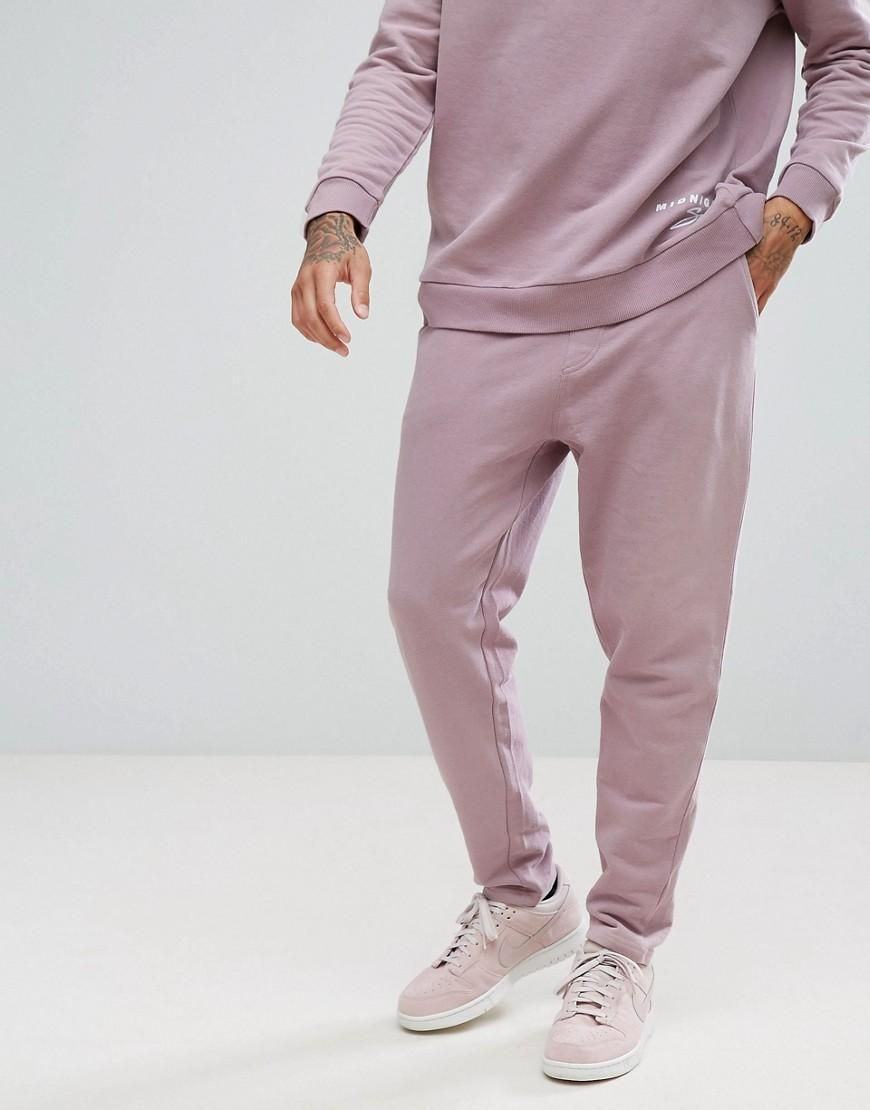 Buy Cheap Best Wholesale Skinny Fit Joggers with Borg Detail - Grey Midnight Surf Big Discount Cheap Online DI39L