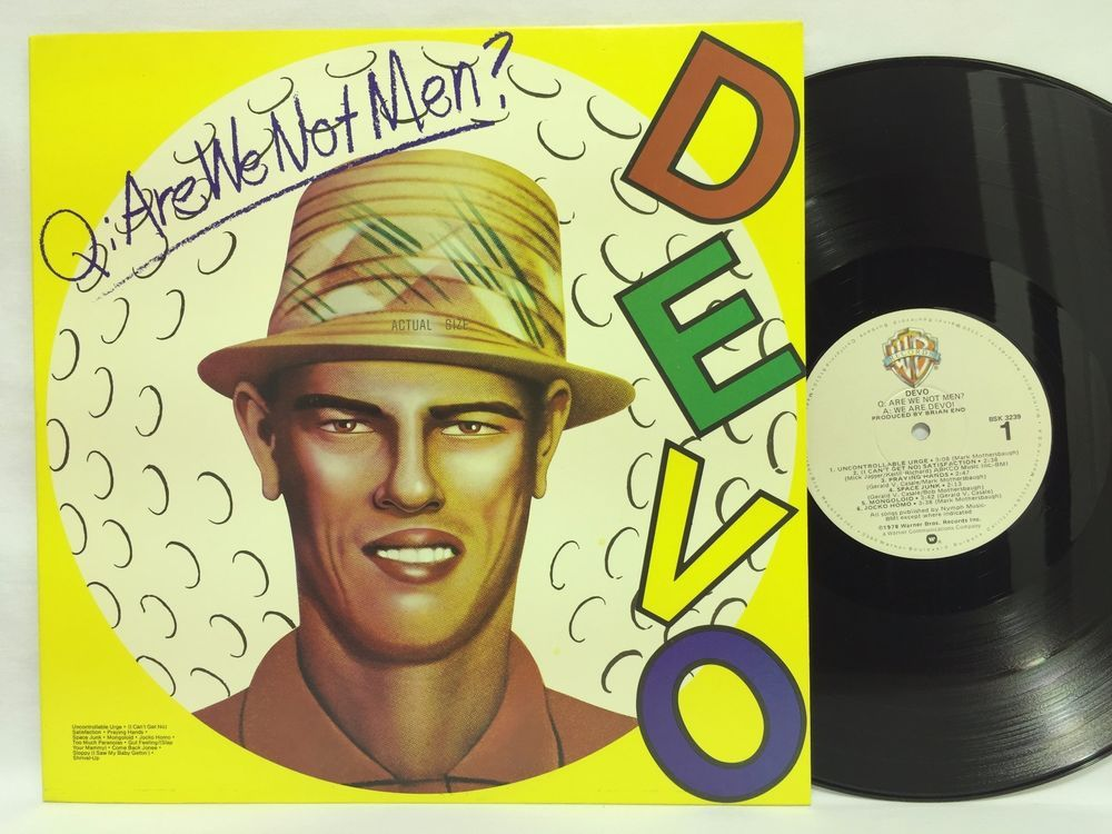 Devo Are We Not Men We Are Devo Bsk 3239 Lp Vinyl Record Are We Not Men Greatest Album Covers Music Album Covers