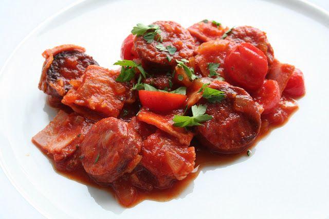 Sauce tomate chorizo pour les pâtes