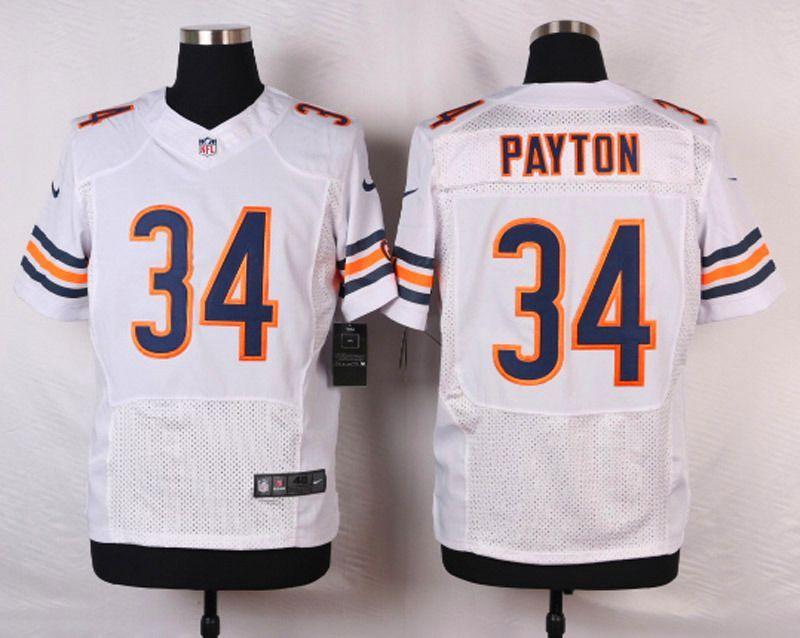 7c1fb3cf NFL Customize Chicago Bears 34 Payton White 2015 Nike Elite Jersey ...