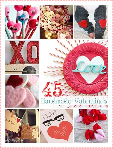 45 Handmade Valentines! Tons of adorable ideas… #valentines #gifts #decorations