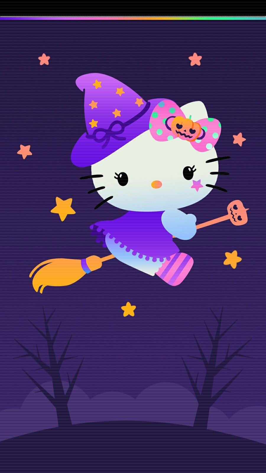 Hello Kitty Halloween Wallpaper Iphone 2019 Hello Kitty Halloween Wallpaper Hello Kitty Backgrounds Hello Kitty Iphone Wallpaper