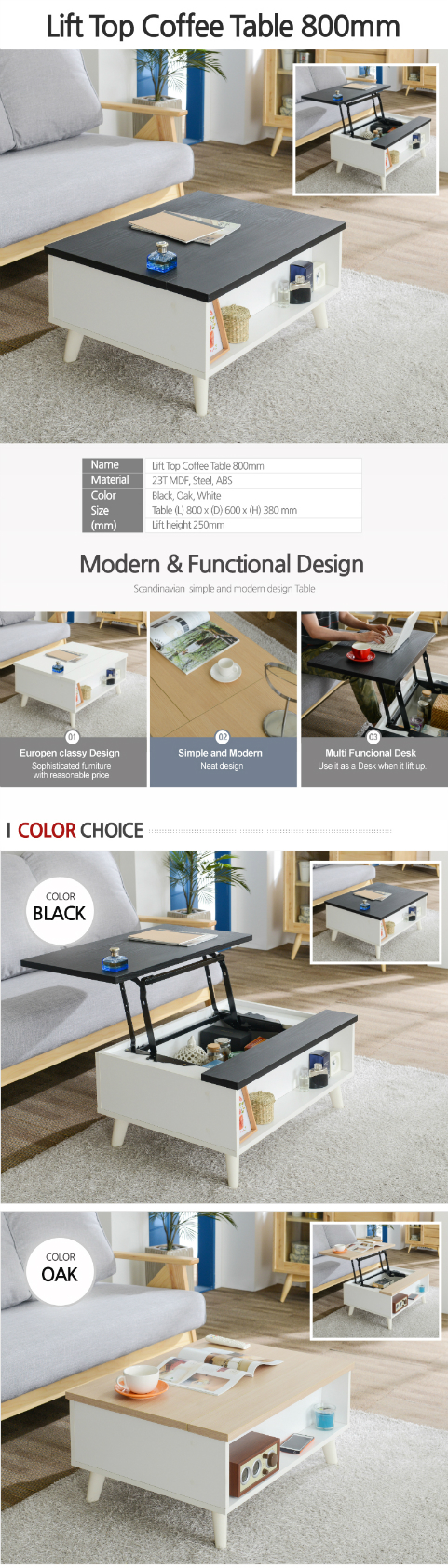 Blmg Blooming Home Lift Top Coffee Table 800cm 1200cm Lift Table Lift Top Table Laptop T