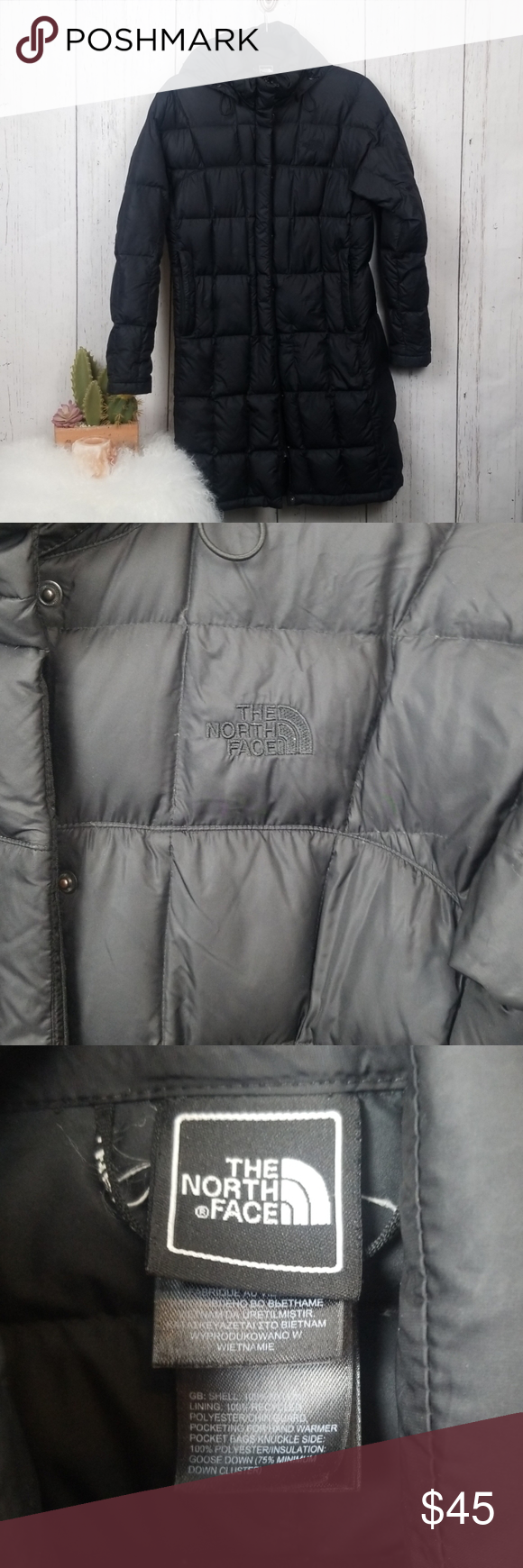 The North Face Long Black Puffer Jacket Size Small Black Puffer Black Puffer Jacket North Face Puffer Jacket [ 1740 x 580 Pixel ]