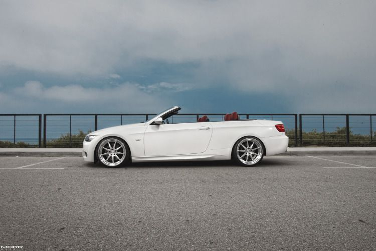 Alpine White Bmw 335i Convertible On Morr Wheels With Images