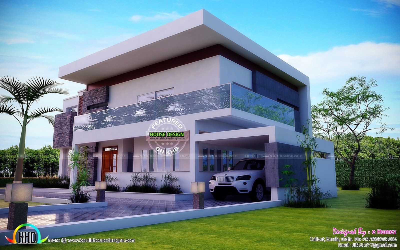 Contemporary model proposed house design in kenya by e homez coimbatore tamil nadu