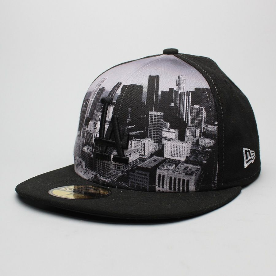 Boné New Era 59FIFTY Los Angeles Black CIty  24092ae812f