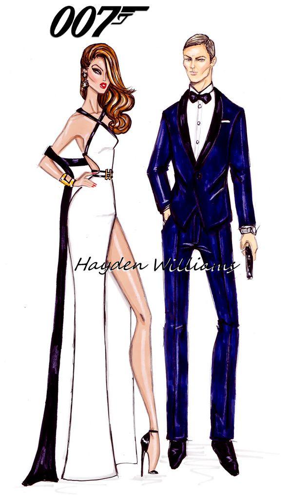 #Hayden Williams Fashion Illustrations  #James Bond & Bond Girl