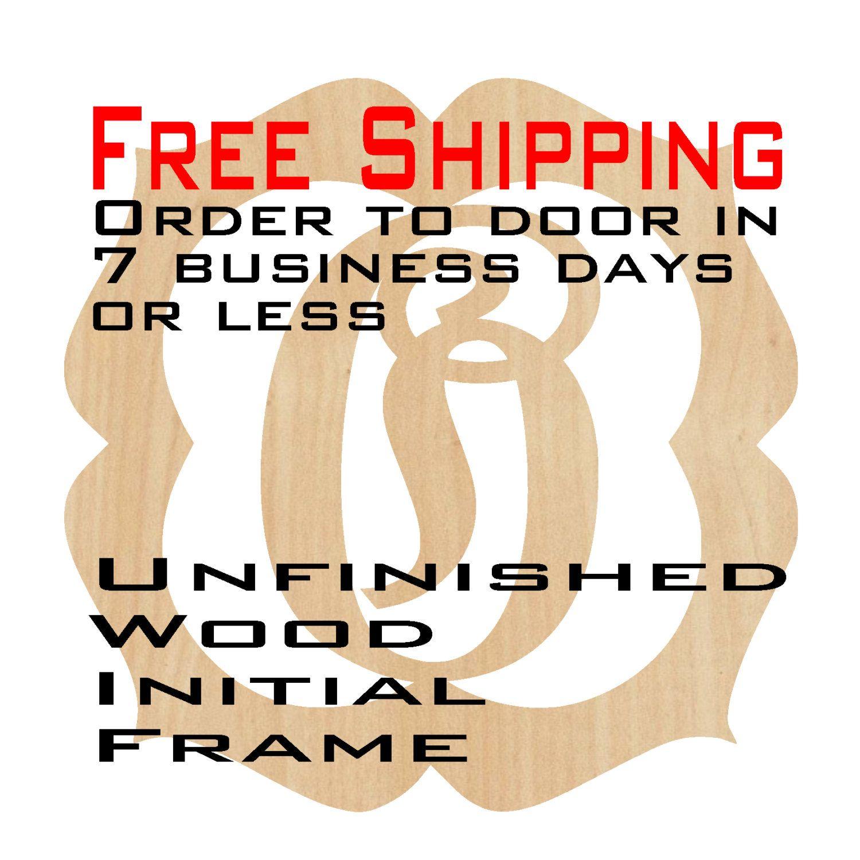Unfinished Wood Olivia Frame Monogram Name Word 10 To 30 Custom