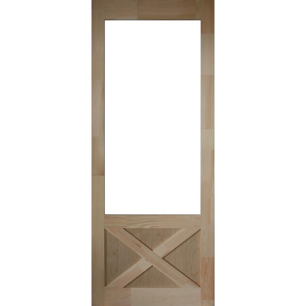 Kimberly Bay 36 In X 84 In Thompson Natural Pine Screen Door Dsath36 Vinyl Screen Doors Wood Screen Door Sliding Screen Doors