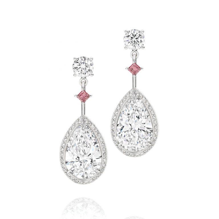 Dangle Wedding Earrings HARMONY Teardrop Wedding Jewelry Pearl Bridal Jewelry Cubic Zirconia Bridal Earrings Cz Drop Bridal Necklace