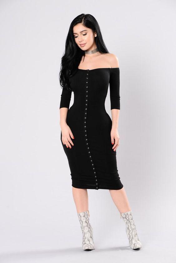 Vestido terciopelo negro combinar