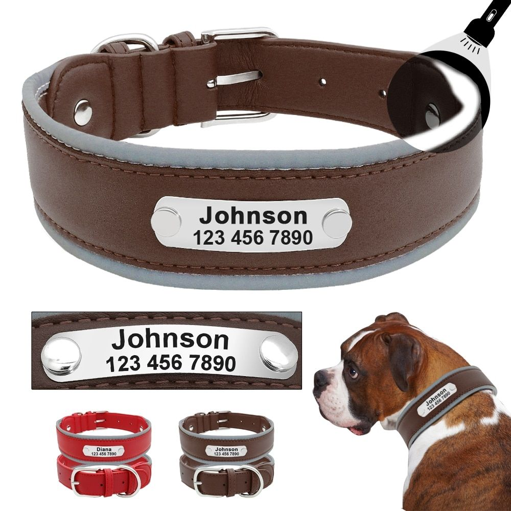 Custom Leather Pet Collars Leather Dog Collars Pet Collars Leather