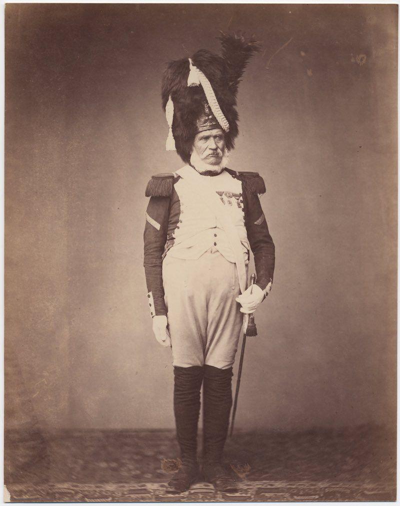 The only surviving images of veterans of the Napoleonic