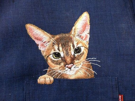 Hey, I found this really awesome Etsy listing at https://www.etsy.com/listing/215954548/hand-embroidered-abyssinian-cat-in-the