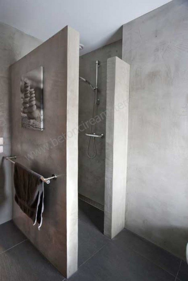 Badkamer!   mooi badkamer beton Door Deenen   House   Pinterest ...