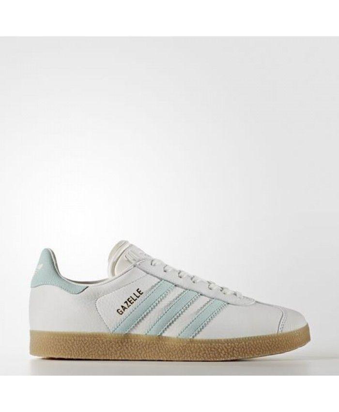 premium selection a880a c1dd4 Adidas Gazelle Vintage White Vapour Green Gum Trainer