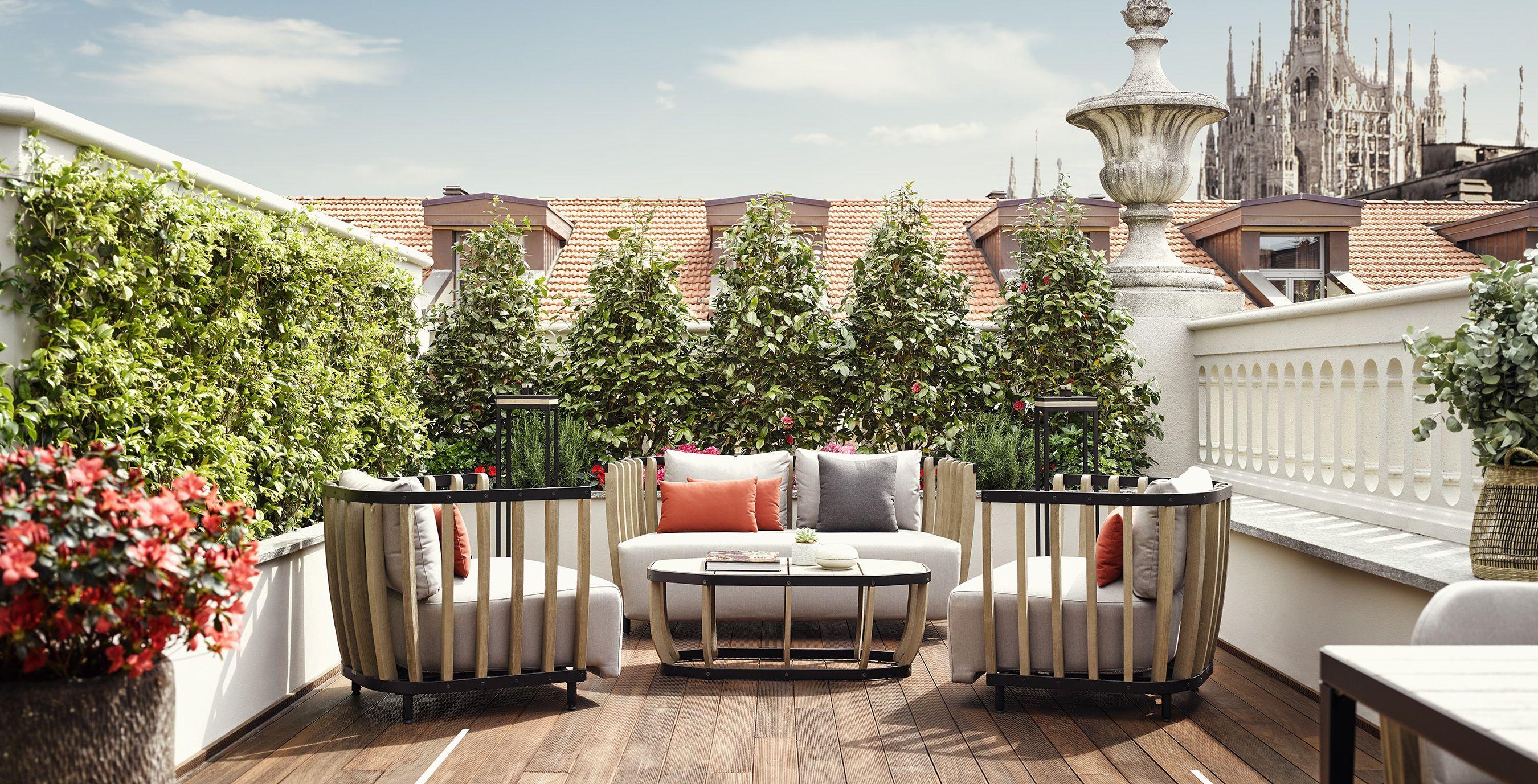 Ethimo S Outdoor Furniture At Park Hyatt Milan An