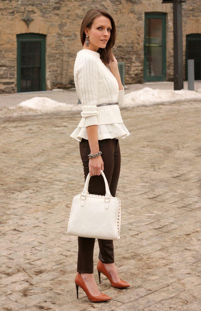 35eec24e8e How to Wear Peplum Tops in Winter – 20 Peplum Outfit Ideas | Fashion ...