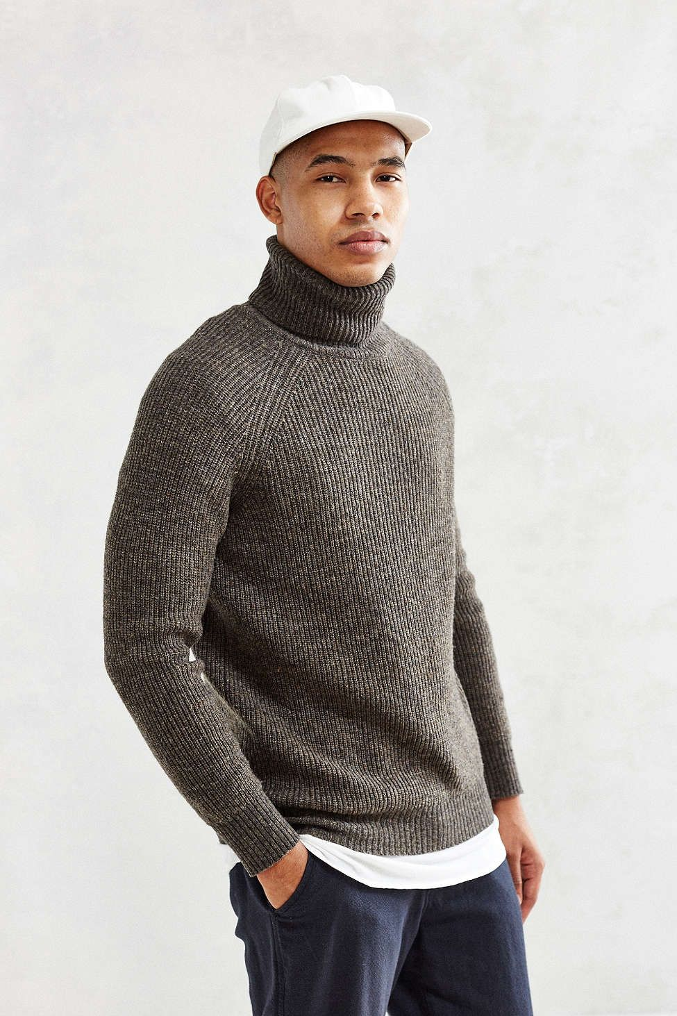 66addec729d CPO Lambswool Ribbed Turtleneck Sweater | knitwear | Ribbed ...