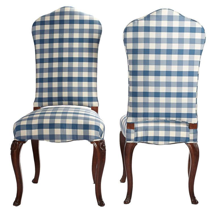 Pair Of 19th Century English Quot Queen Anne Quot Style Chairs In