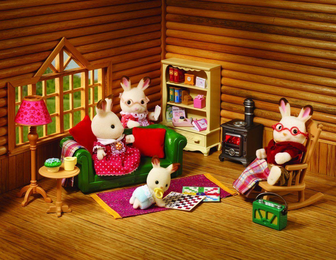 Amazon.com: Sylvanian Families Cosy Living Room Furniture ...