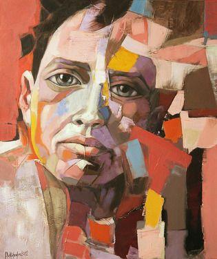 "Saatchi Online Romanian Artist: Sorin Dumitrescu Mihaesti; Acrylic  on canvas, ""Painting Portrait 0079"""