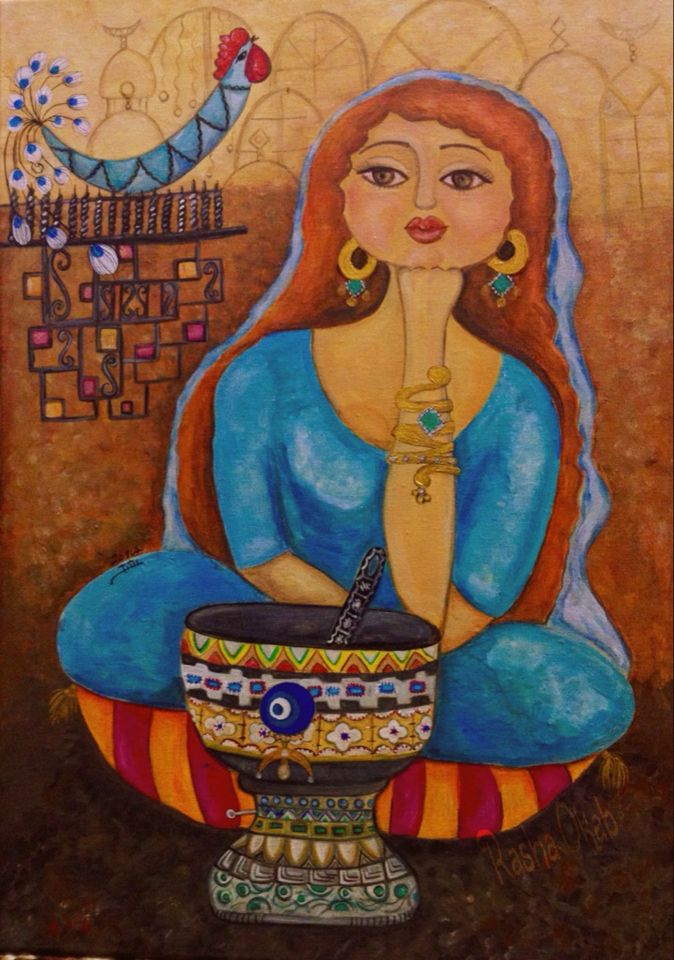 By Iraqi Artist Rasha Okab Egyptian Painting Arabian Art Egyptian Art
