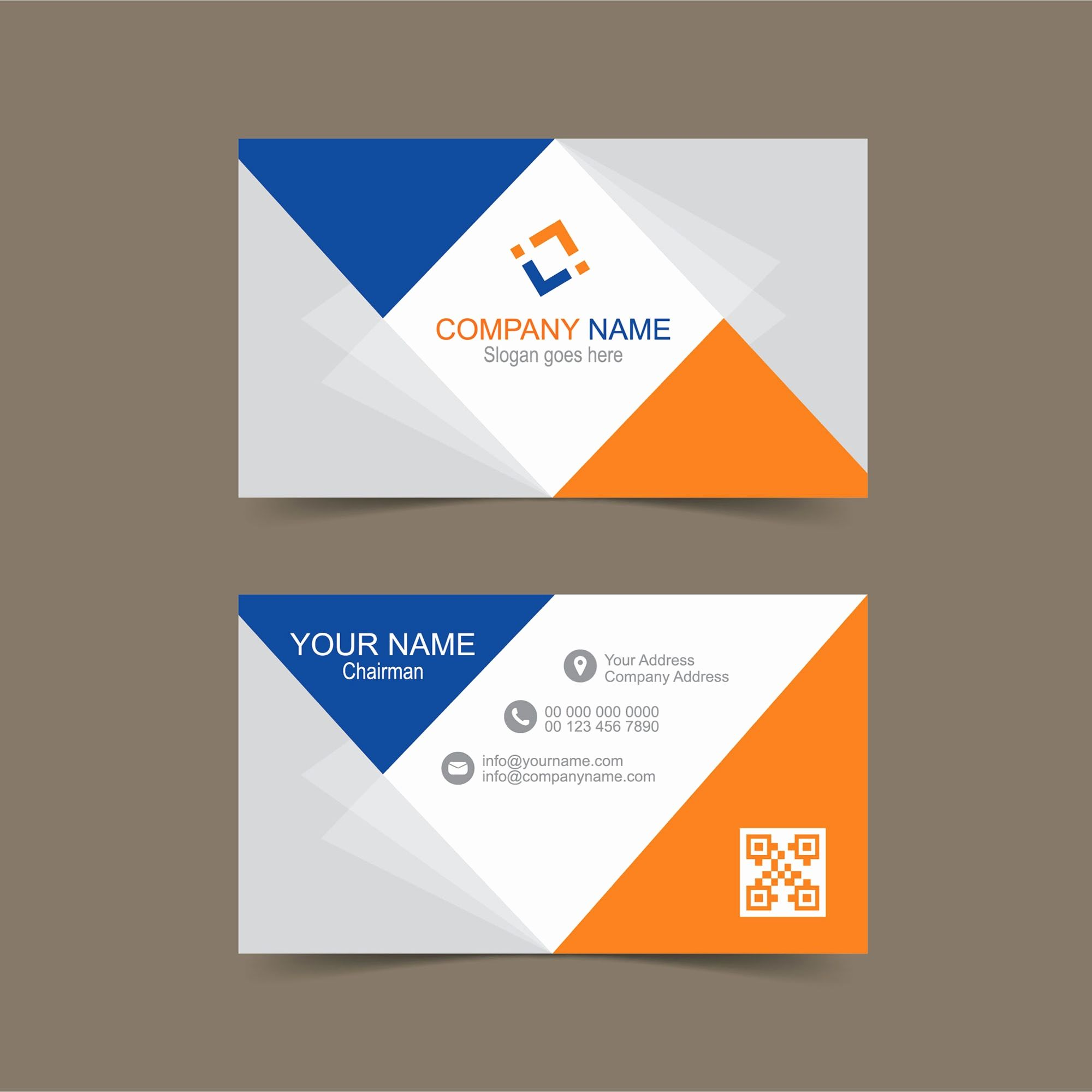 Business Card Layout Illustrator Size Template Free Download In